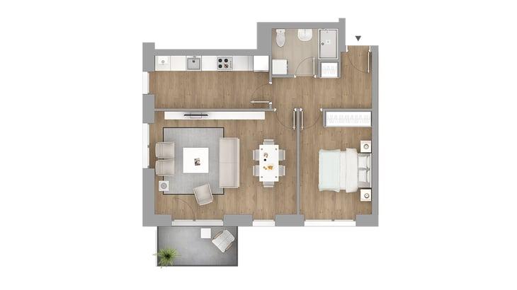 apartamente 2 camere - blocuri noi Vivenda Bucuresti